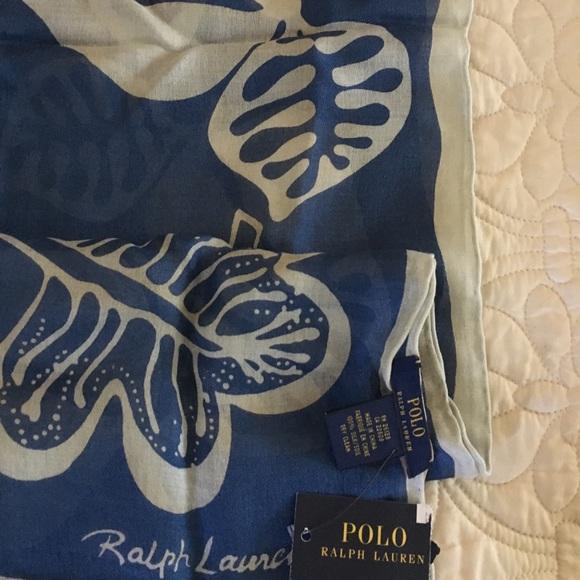 Ralph Lauren Accessories - Ralph Lauren Raw Silk Scarf.